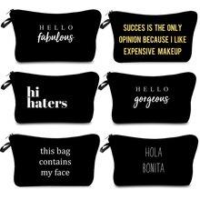 Makeup Case Cosmetic-Bag Necessaries-Organizer Zipper Transparent Travel-Function Large