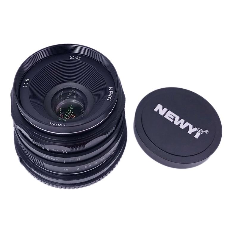 NEWYI APS 25mm F/1.8 Manual Focus MF Prime Lens for Fujifilm Fuji X-Mount XA3 XE3 XT1 X-Pr01