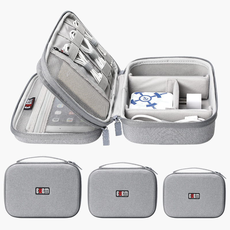 Multi-function Travel Digital Storage Bag Mobile Power Headset U Disk Data Cable Storage Bag Cable Bag USB Gadget Organizer