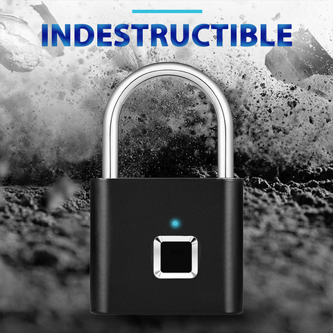 USB Rechargeable Smart Keyless Electronic Fingerprint Lock Home Anti-theft  Safety Security padlock Door Luggage Case lock Lahore