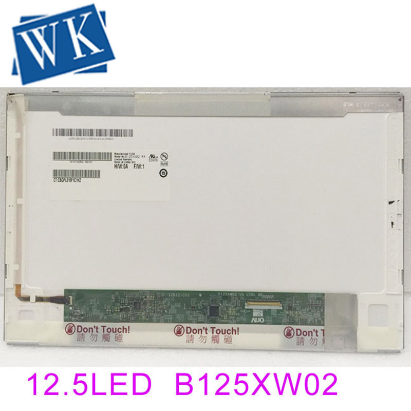 free shipping LTN125AT02 B125XW02 V.0 B125XW02 V0 LP125WH1 For <font><b>HP</b></font> 2560p <font><b>2570p</b></font> laptop <font><b>lcd</b></font> screen display 1366*768 12.5 inch image