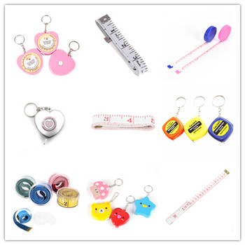 150CM Mini Measuring Tape Measure Retractable Metric Belt Colorful Portable Ruler Centimeter Inch Children Height Ruler image
