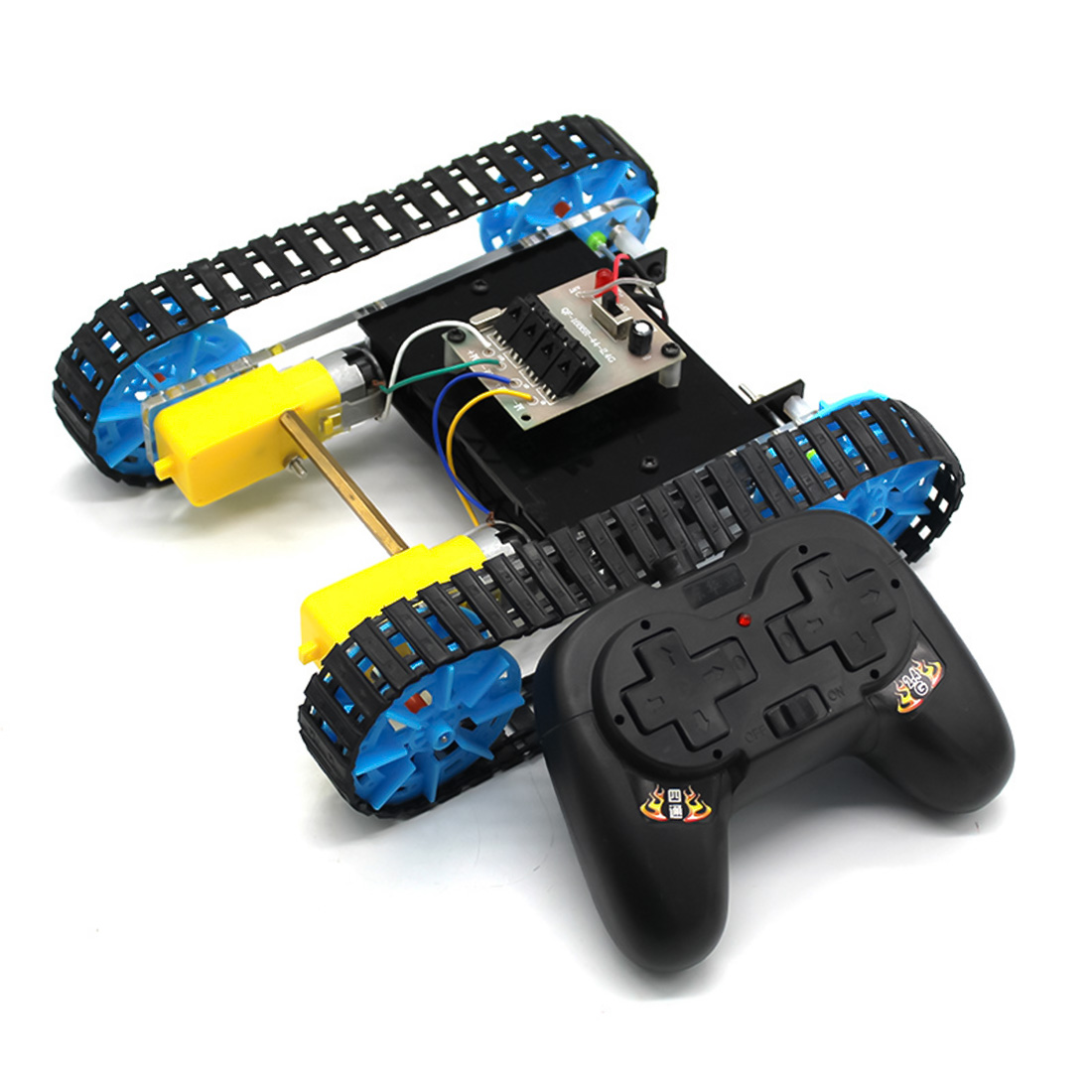 DIY Assembly Remote Control <font><b>Tank</b></font> Model Science Educational Toy image