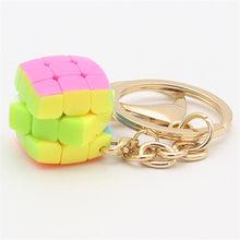 Yongjun 2.0cm chaveiro travesseiro 3x3 cubo mágico mini chaveiro 2cm,3.5cm,4.5cm yj 3x3 velocidade cubo brinquedos para meninos