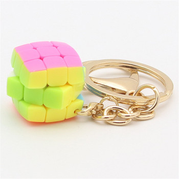 YongJun 2.0cm keychain pillowed 3x3 magic cube Mini  2cm,3.5cm,4.5cm YJ Speed Cube Toys for Boys - discount item  22% OFF Games And Puzzles
