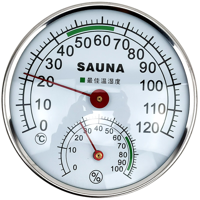 Stainless Steel Case Steam Sauna Thermometer Hygrometer In Room Accessories