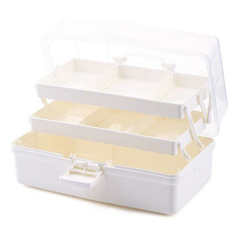 Multifunctional Portable Three Layer Storage Box For Tool Toys And Cosmetics Medicine Organization Storage