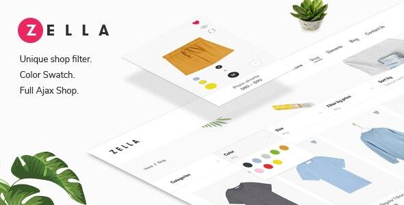 Zella - 创意电商WordPress 主题 + RTL-汉化版