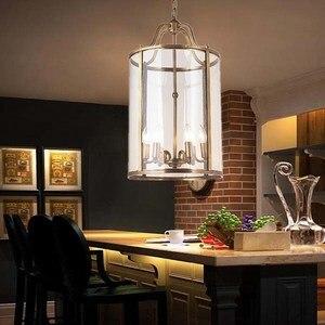 Image 2 - Американский подвесной светильник, лестница, европейский стиль, коридор, домашний сад, бронза, карнавал, подвесной светильник, птичья клетка, вилла, клуб, лампа LO7309