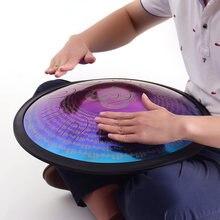 Tambor de mano de 18 pulgadas, tambor de lengüeta de acero de aleación d-minor, 11 idiomas de doble tono, instrumento de percusión con bolsa de tambor