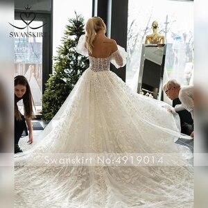 Image 5 - SWANSKIRT Sweetheart Illusion suknia ślubna 2020 2 w 1 rękaw line księżniczka dostosowane suknia ślubna Vestido de novia I327