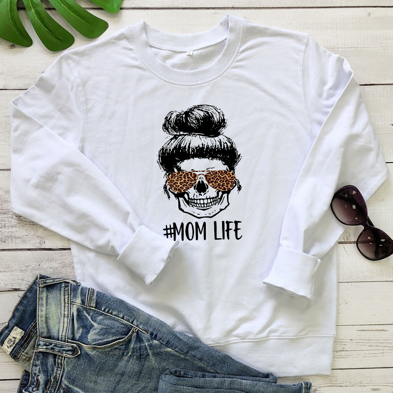 Colored Leopard Mom Life Sweatshirt Fashion Women Long Sleeve Motherhood Pullovers Funny Mother's Day Gift Sweatshirts Femme 7