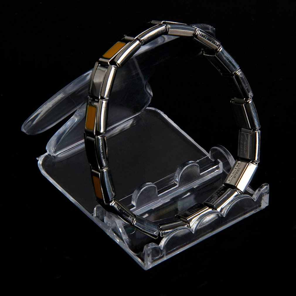 Acrílico Pulseira Jade Pulseira Relógio Jóias Rack Organizador Titular Showcase Display Stand Transparente 4 Tipos Gota ShippingN