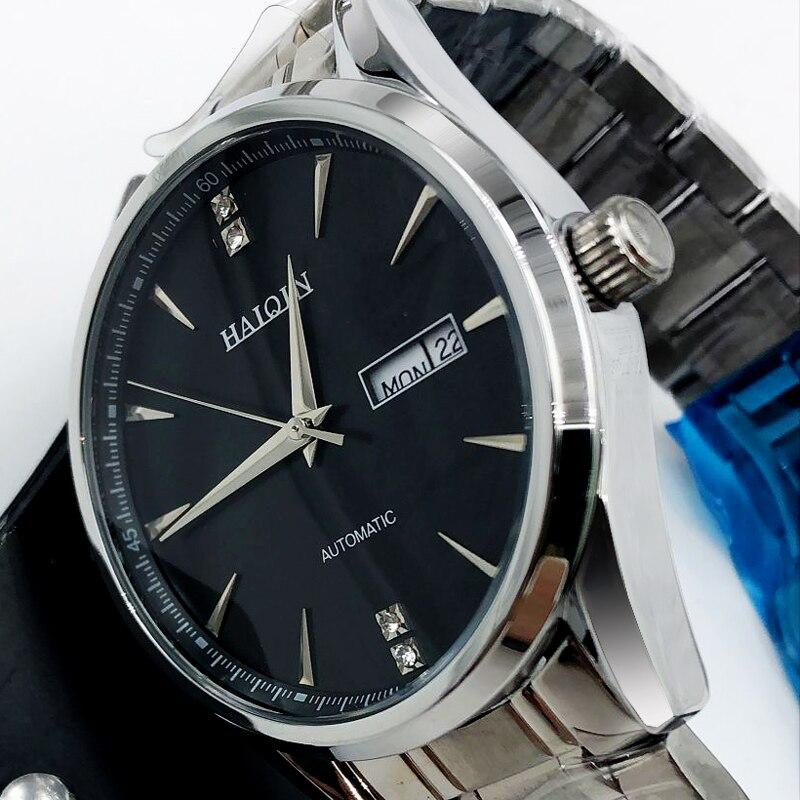 HAIQIN メンズ腕時計機械式メンズ腕時計トップブランドの高級自動腕時計メンズゴールド wirstwatch 男性トゥールビヨンリロイ hombres  グループ上の 腕時計 からの 機械式時計 の中 1