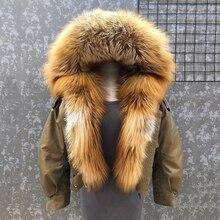 새로운 도착 여자의 패션 폭스 모피 코트 분리형 안감 최고 품질의 램 모피 라인 폭격기 재킷 짧은 스타일 S7652