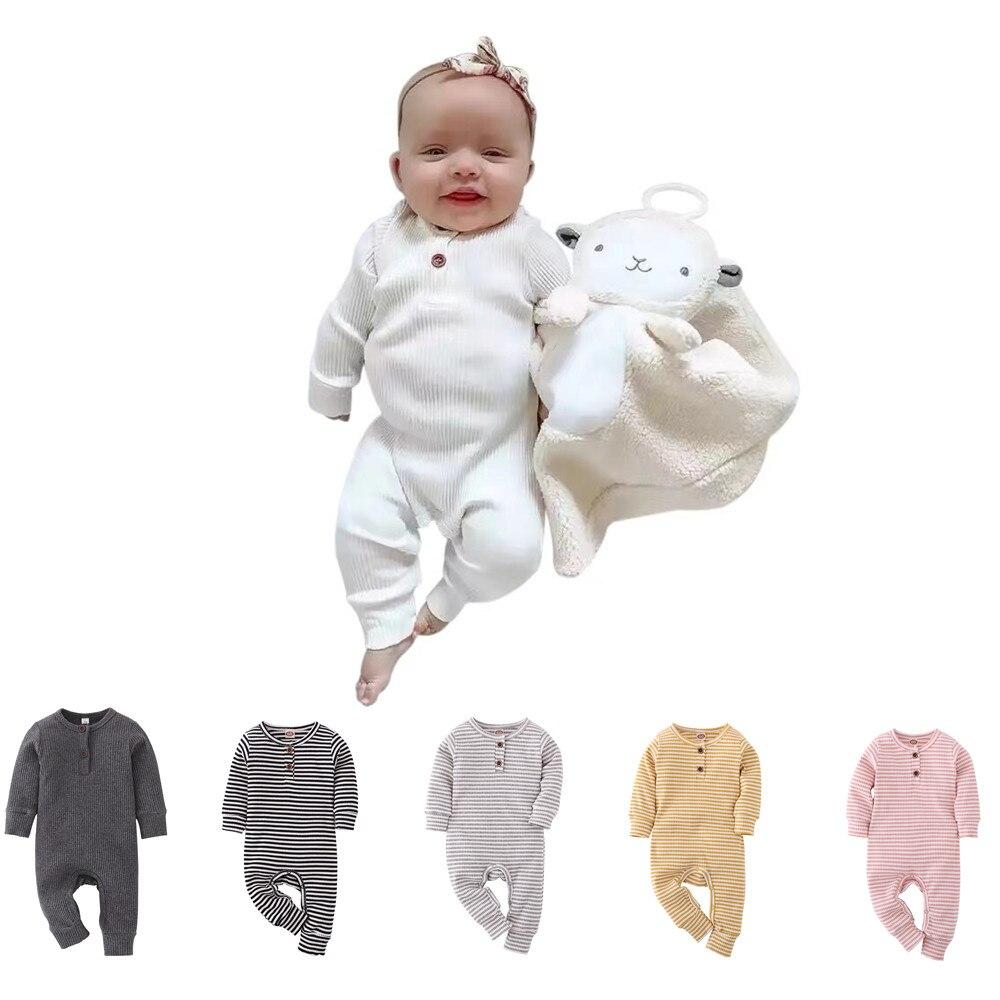Recién Nacido ropa para bebé (niño o niña) Unisex mamelucos de bebé de algodón de manga larga mono niño ropa de bebé infantil ropa