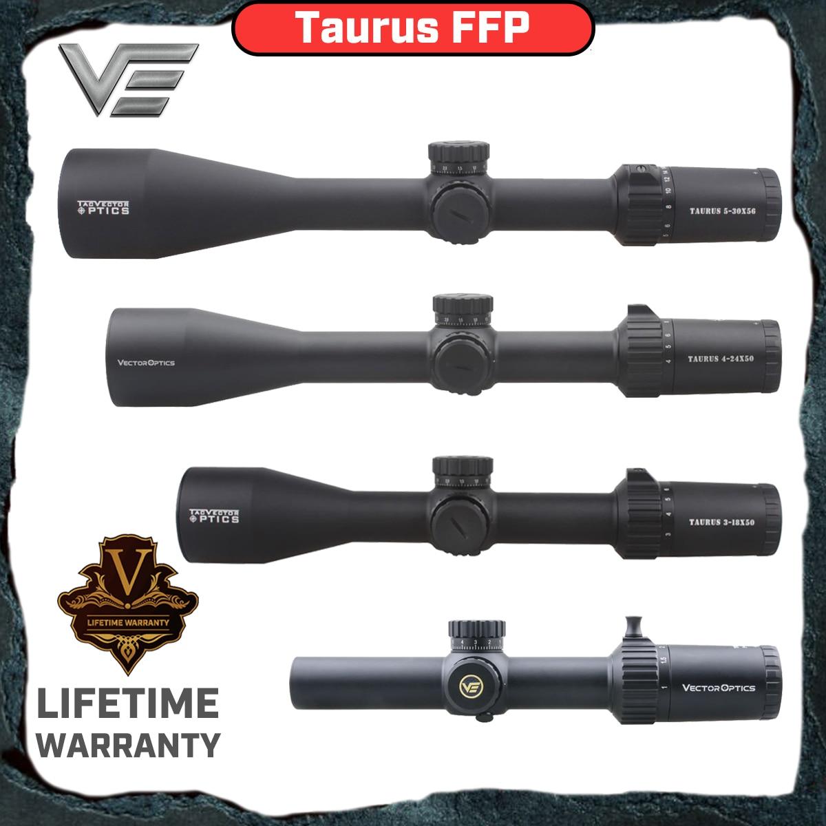 Vector Optics Taurus 1-6x24 3-18x 4-24x 50mm 5-30x 56mm FFP Tactical Präzision Zielfernrohr Hohe Qualität Lange Palette Jagd umfang