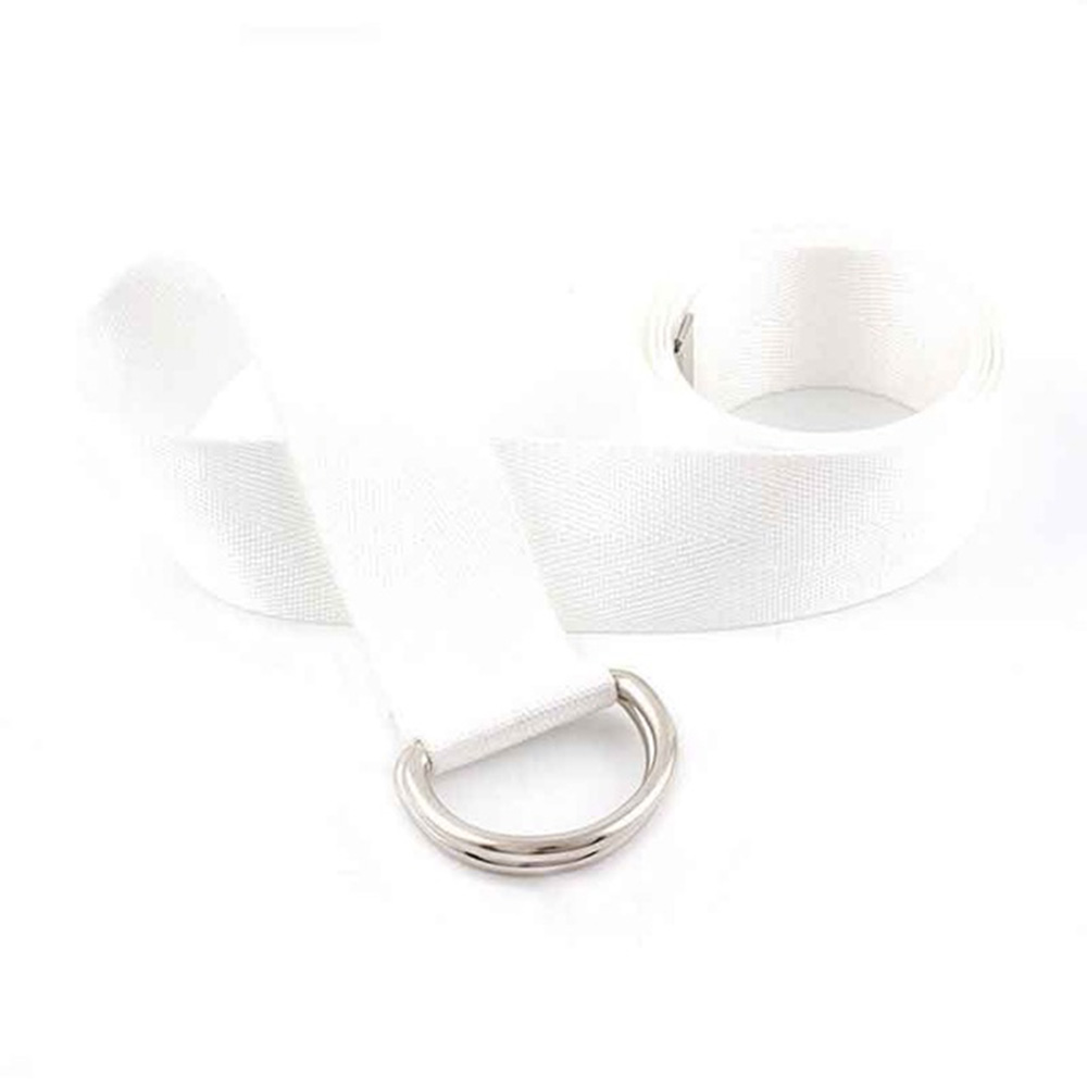 New Canvas Nylon Webbing Women's Belt Fashion Double Ring Buckle Ladies Canvas Adjustable Long Belt Accessories