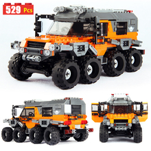 529pcs Technic Series All Terrain Vehicle Off-road Car Model Building Blocks With Figures Assembly Block Bricks Toy Gift For Kid lepin 20055 1180pcs technic mechanical series the rescue vehicle set 42068 children educational building blocks bricks toy gift