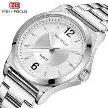 MINIFOCUS Elegant Dress Women Quartz Watches Stainless Steel Strap Simple