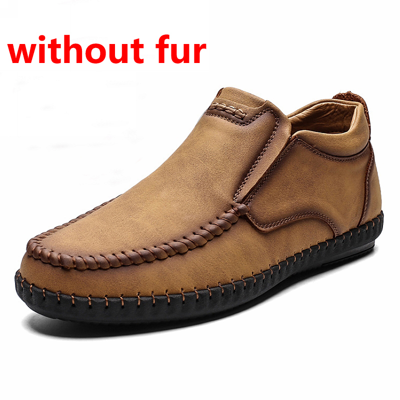JINTOHO Fashion Work & Safety Boots Brand Men Genuine Leather Shoes Casual Leather Boots For Men Warm Snow Boots Work Snow Shoes