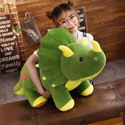Bonito Simulação Brinquedos De Pelúcia Dinossauro Triceratops Realistas Boneca Macia Toy Modelo Animal Dos Desenhos Animados para Crianças Meninos Do Bebê do Aniversário
