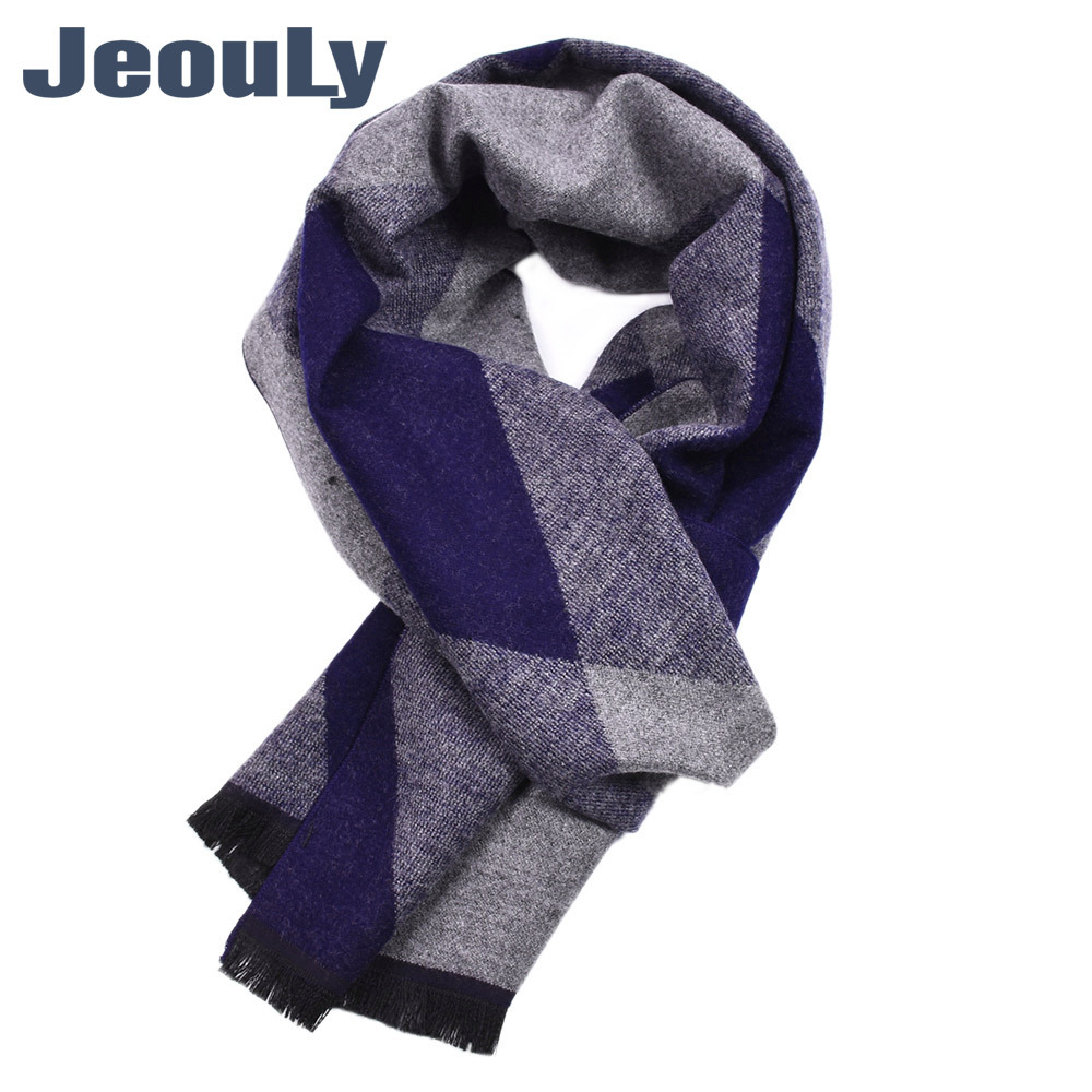 MEN'S Scarf New Style 2018 Hot Selling Europe And America Autumn And Winter Warm Rhombus Plaid Double-Sided Tassels Yarn Dyed Sc