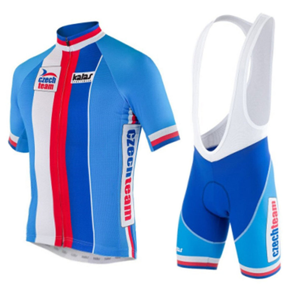CZECH TEAM cycling Jersey and bib shorts suit men's bike shirt summer Cycling clothing short sleeve sets Maillot Ciclismo hombre