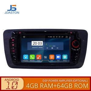JDASTON Octa Cores Android 10.0 Car DVD Player For Seat Ibiza 2012 2013 2014 2015 Multimedia GPS Navigation Radio 4G+64G Stereo