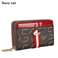 Navy Cat Wallet Female Fashion Brand 2019 New Arrival Short Wallet Women Coin Purses Holder Small Zipper Wallet