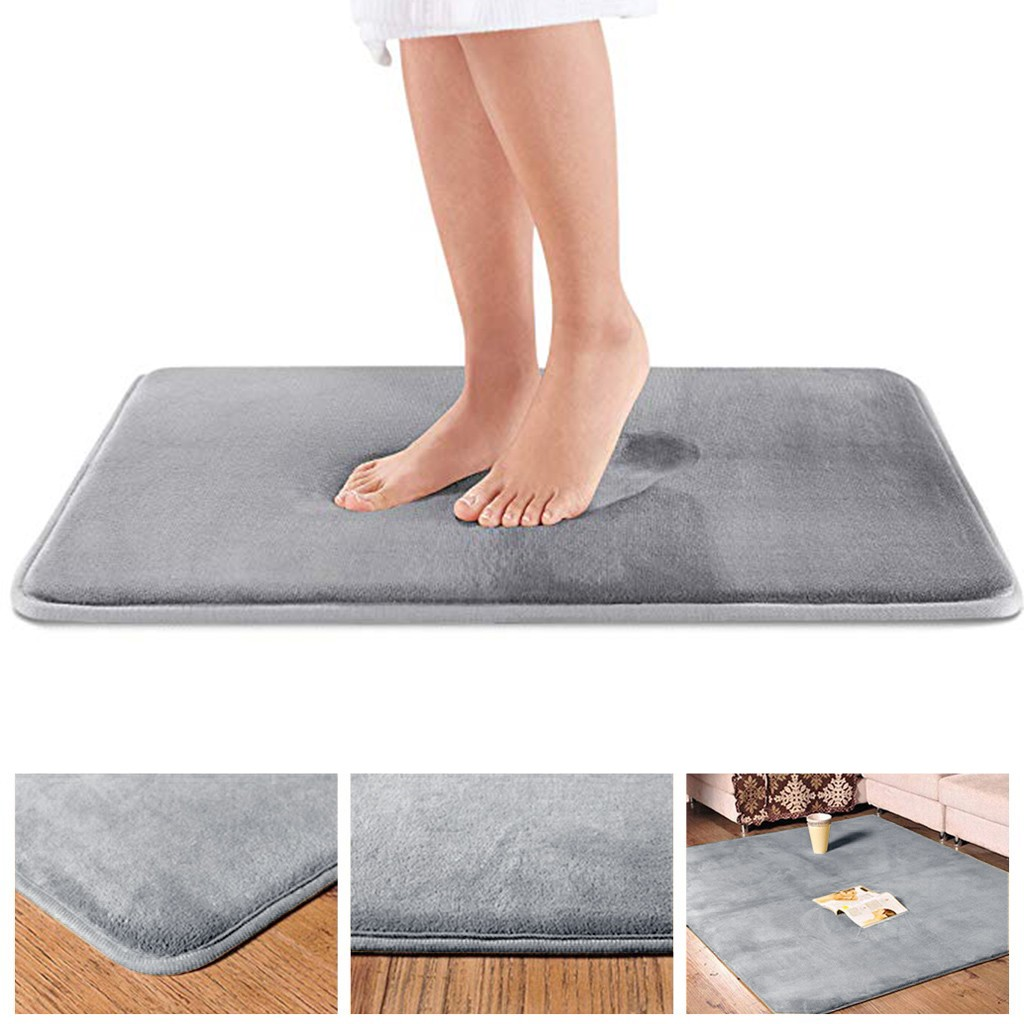 Water Absorption Rug Bathroom Mat Shaggy Memory Foam Bath Mat Carpet Door Rug