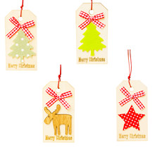 Natural Wood Christmas Ornaments Pendant Xmas Tree Pentagram Elk Pattern Hanging Gifts For Xmas Home Party Candy Box Decoration(China)