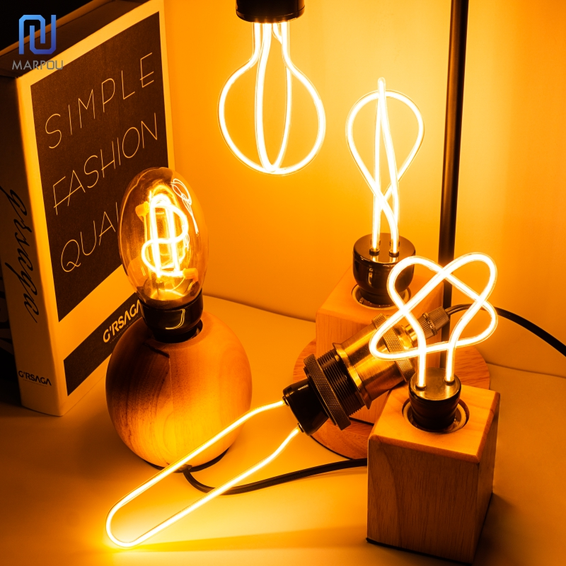 Retro LED Light Bulb E27 220V Edison Soft LED Ampoule Lamp 4W 4.5W Industrial Decor Light Irregular Design Filament Lamp Bulbs