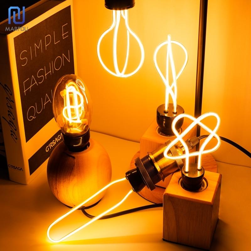 Retro LED Light Bulb E27 220V Edison Soft LED Ampoule Lamp 4W 4.5W Industrial Decor Light Irregular Design Filament Lamp Bulbs