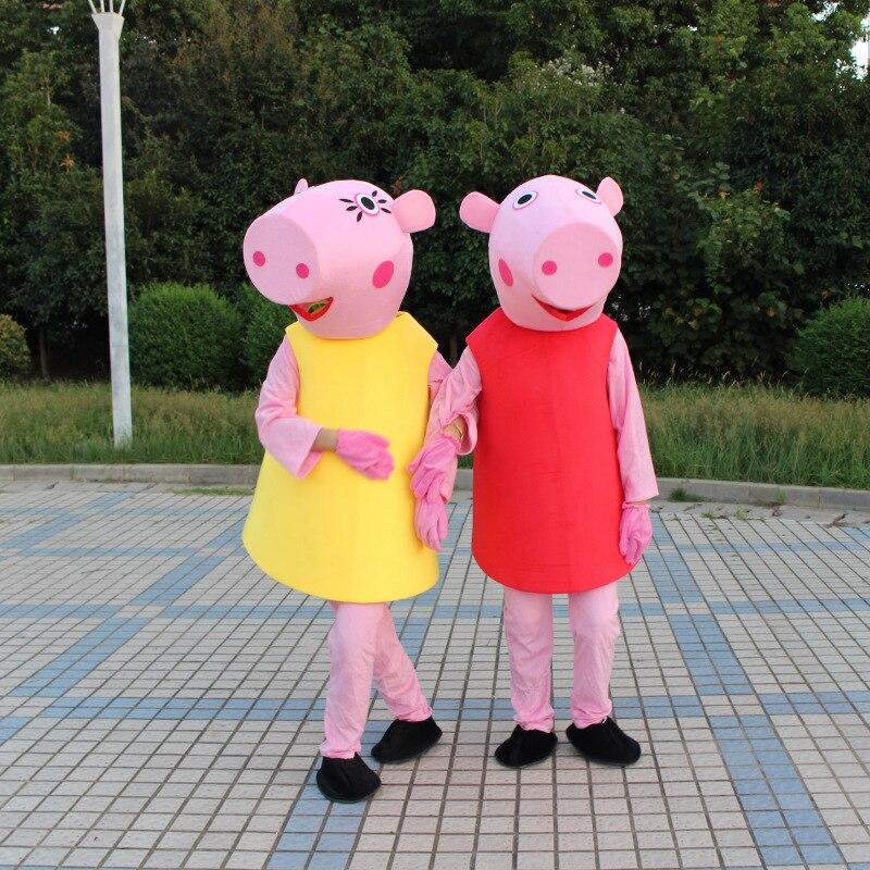 Свинка Пеппа плюшевый мультфильм костюм папа мама Джордж Page свинья Вечеринка дня рождения событие реквизит игрушка Дети Сюрприз подарок