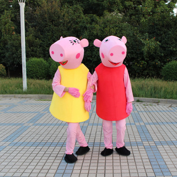 Peppa Pig Plush Cartoon Costume Daddy Mummy George Page Pig Birthday Party Event Props Toy Kids Surprise Gift ol daddy page 8