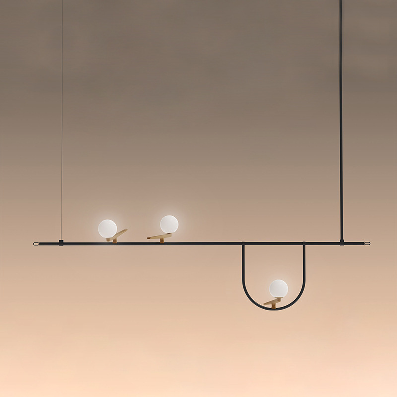 Modern Deco Chambre Glass Home Decoration E27 Light Fixture Bedroom Luminaria Pendente