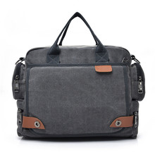2020 Men Canvas Bag Briefcase Travel Suitcase Messenger Shoulder Tote Handbag Large Casual Business Multifunction
