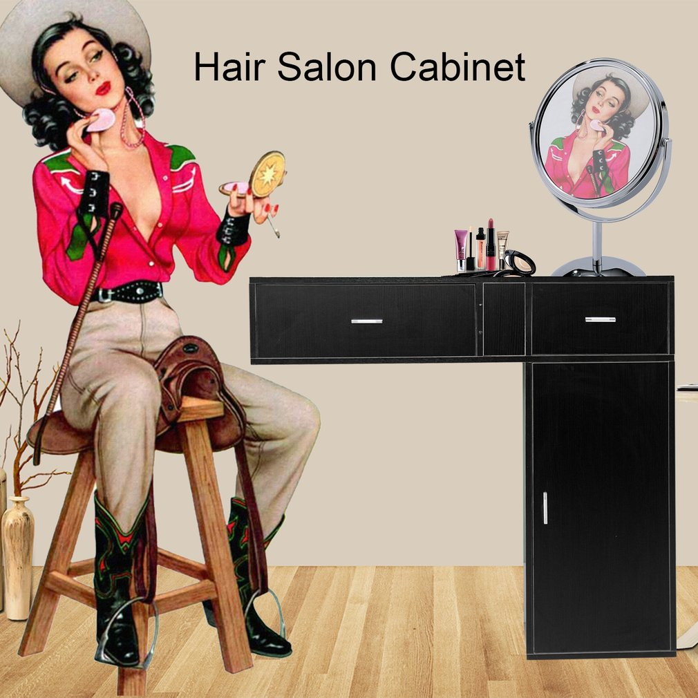 Floating Styling Wall Shelf Beauty Spa Station Hair Salon Cabinet Wall Mounted Shop Storage Unit Barber Station Organizer