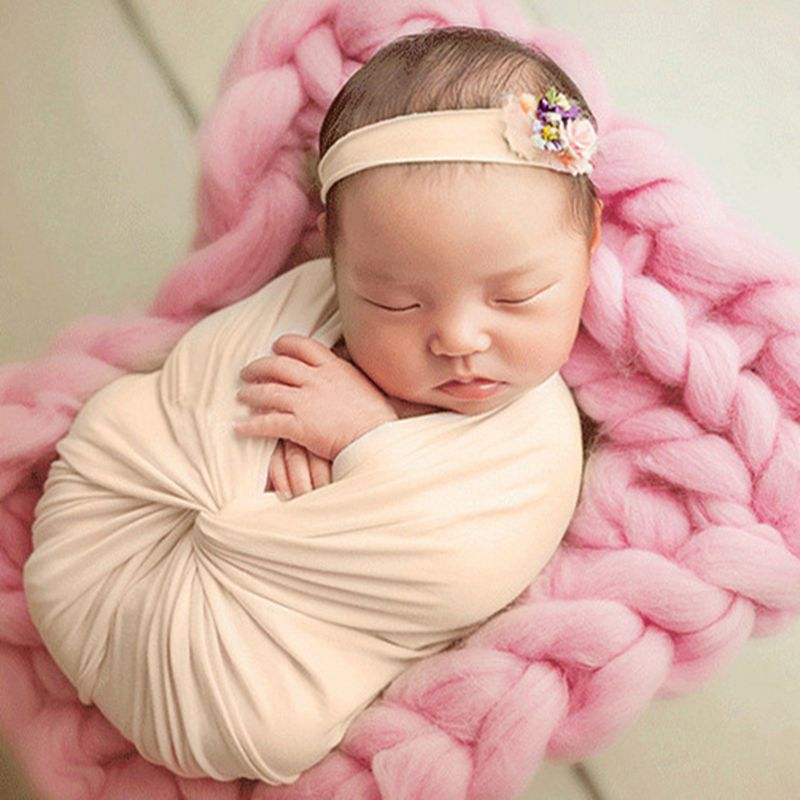 Children's Photography Props Wrapping Cotton Elastic Wrapping Towel Newborn Wrap CHD10139