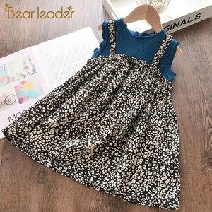 Bear Leader Girls Flowers Dress 2020 New Fashion Summer Kids Sleeveless Vest Dress Girl Floral Casual Vestidos Toddler Clothing
