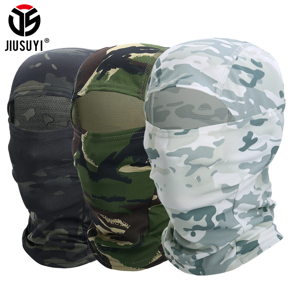Multicam Balaclava Realtree Camouflage Tactical Paintball Wargame Military Airsoft Army Helmet Liner Protection Full Face Cap(China)