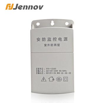 Jennov DC 12V 2A zewnętrzna wodoodporna kamera do monitoringu cctv przełączająca adapter do zasilacza zasilanie nadzoru bezpieczeństwa tanie i dobre opinie CN (pochodzenie) C4204-12V-2A AC180V-AC260V AC DC adapter Outside Power supply Temperature -30~70 degree Wall hanging power adapter