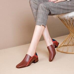 Image 5 - 女性のフラットシューズ本革フラットプラットフォーム brogues 女性夏の女性のグラディエーターフラットラバーソール靴 2020