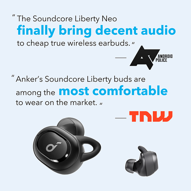 [Upgraded] Anker Soundcore Liberty Neo TWS True wireless earbuds With Bluetooth 5.0, Sports Sweatproof, and Noise Isolation 2