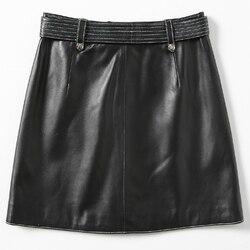 Echt Schaffell Mini Rock Aus Echtem Leder Röcke Frauen Herbst Elegante Damen Büro Rock Faldas Mujer Moda 2020 LWL1604