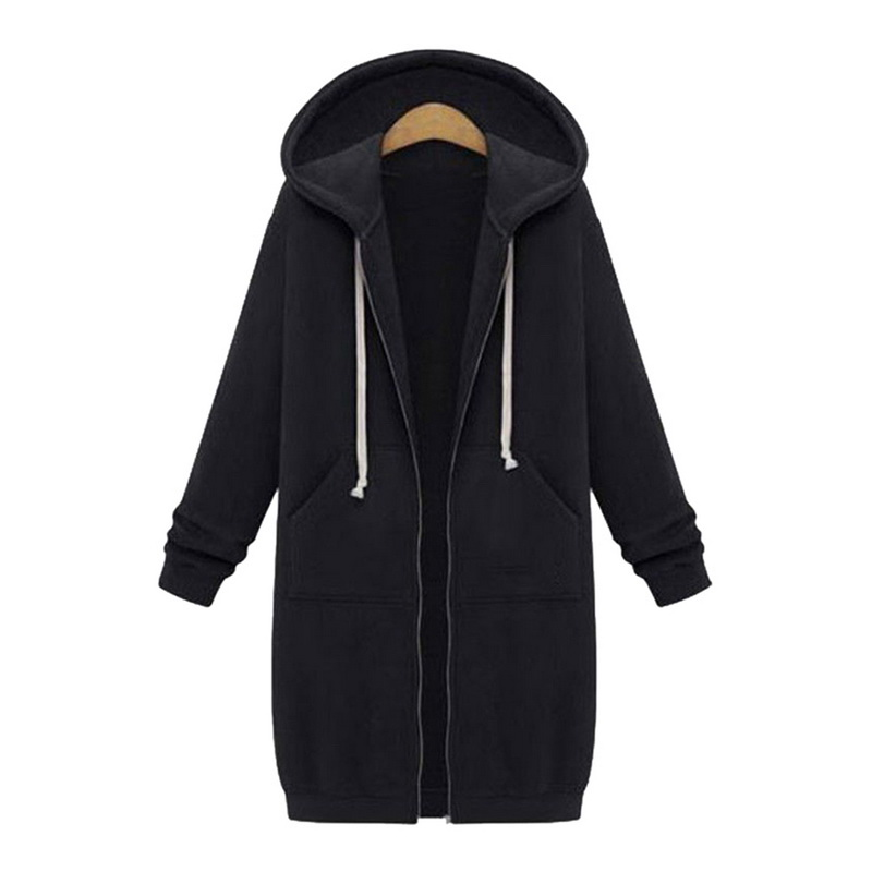 Women's Jacket Long Coat Spring 2020 Casual Plus Size Autumn Hooded Jacket Female Sweater Ladies Cardigan Size 5xl Coats