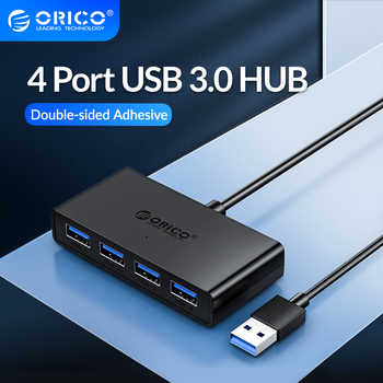 ORICO USB HUB 4 Port USB 3.0 Splitter With Micro USB Power Port Multiple High Speed OTG Adapter for Computer Laptop Accessories - DISCOUNT ITEM  40 OFF Computer & Office