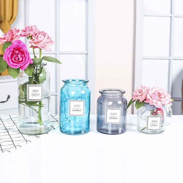 Modern Creative Glass Vase Ornaments Home Furnishing Crafts Office Table Bouquets Flower Pot Wedding Decoration 6