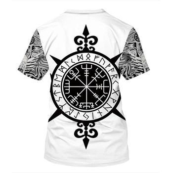 Viking symbol - odin Tattoo 3D Printed men t shirt Harajuku Fashion Short sleeve shirt summer Casual Unisex tshirt tops 2